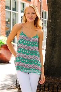 I Dream of Kiwi Top. www.Shoplaurennicole.com  #printtop #tanktop #fashion