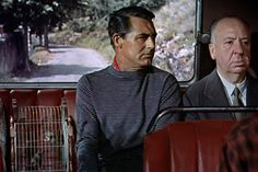Alfred Hitchcock's cameo in To Catch a Thief appears about nine or ten minutes into the film, he can be seen sitting next to Cary Grant's character John Robie on the bus.