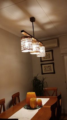 wooden pendant lamp ceiling light model Triplus by IluminariumBCN Home Crafts, Diy Home Decor, Luminaire Original, Diy Luminaire, Diy Pendant Light, Pendant Lamps, Chandelier Makeover, Paper Lampshade, Light Crafts