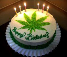 #white #green #marijuana #weed #smoking #drugs #candles #birthday #happybirthday #cake