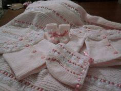 pink babt set by YARNARTWORLD on Etsy, $112.00
