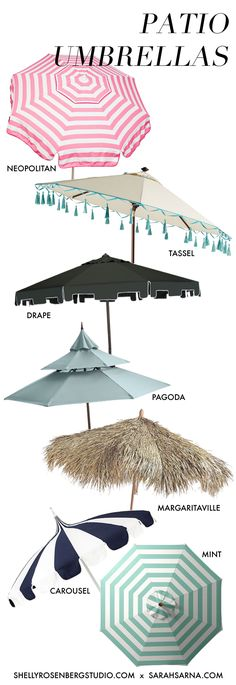 Keep Your Cool 7 Stylish Patio Umbrellas