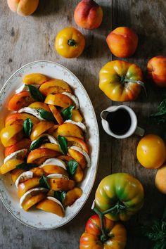A Daily Something   Tomato Peach Basil Salad