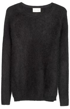 Angora wool scoop neck jumper Women
