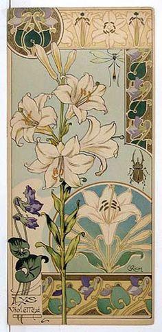 French 1890s floral portfolio 'Etudes de Fleurs' by Riom