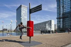 JCDecaux, florian brillet, and nicolas lelievre's 'mens sana in corpore sano' is based on a physical and intellectual understanding of sport in the city. City Furniture, Urban Furniture, Street Furniture, Furniture Design, Concrete Furniture, Ikea Furniture, Furniture Stores, Landscape Architecture, Landscape Design