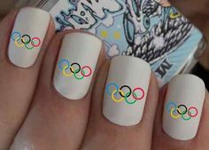 Nail Art Olympic Rings Water Transfers on sale on eBay. (in GDP of course!)