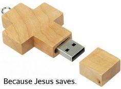 Because Jesus saves.