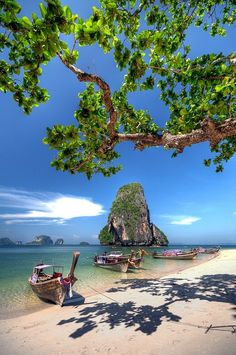 Krabi, Thailand. 10 days and I will be on my way to sitting on that beach!