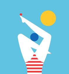 Summer set Summer Set, Symbols, Graphic Design, Fine Art, Day, Illustration, Artist, Illustrations, Visual Arts