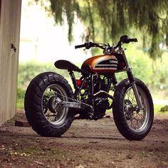 by Blacky extra pics yamaha scrambler Tw Yamaha, Yamaha Tw200, Honda Scrambler, Motos Honda, Sr500, Scrambler Motorcycle, Moto Bike, Honda Bobber, Honda 125