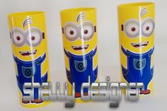 Shelly Designer: COPO LONG DRINK TEMA MINIONS