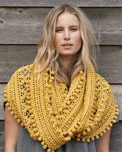 crochet, cowl, womens, 8 ply, pattern, superfine, merino, Cleckheaton