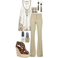 Super cute office outfit...