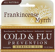 Frankincense & Myrrh Cold And Flu Prevention - I swear by this stuff.