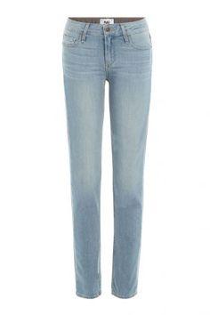 Paige Paige Knöchellange Skinny Jeans – Blau