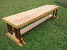 6 ft custom crafted bench, perfect for garden, porch or deck..Made of cypress with 8 spanish cedar legs. All nut, bolt and screw holes plugged with oak, finished in danish oil with 3 coats of outdoor poly CALL KEN AT BLACKWATER CUSTOM WOODCRAFT @  850. 490. 1262 $225.00 + shipping