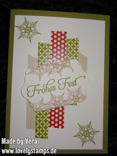 Weihnachtskarte Christmascard Stampin Up