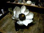 Ceramic flower by Sugiura Yasuyoshi