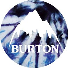 Burton logo tie dye sticker by casmar