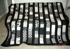 Black and White Night Quilt