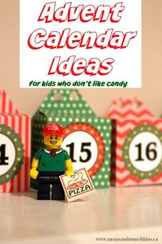 We're creating our first advent calendar this year for my son and he doesn't like sweets. Here are some creative non-food advent calendar ideas for kids.