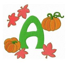 Pumpkin Letters Set - 4x4 | What's New | Machine Embroidery Designs | SWAKembroidery.com Fun Stitch
