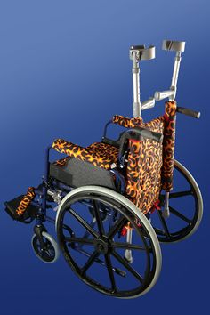 Flaming Full Wheelchair Set from PAD-ALL Industries. Easily customise your wheelchair with these full matching accessory sets.