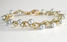 Chains & Pearls BraceletDIY - fun at the hardware store #jewelry #diy #hardware