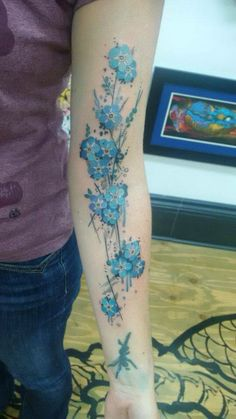 Watercolor forget me not Tattoo