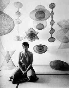 Ruth Asawa.wire sculptor and her wire art wonderful ethereal sculptures in abstract style