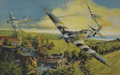 Victory Over Normandy By: Robert Bailey - June 28, 1944. Spitfire ace Lt. 'Hap' Kennedy shoots down a Focke Wulf 190 over Normandy, shortly after the DDay invasion.