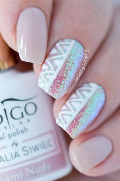 Paulina's PassionsEasy Aztec Nail Art | Pixel Effect Emerald by Indigo Nails