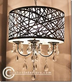 CHANDELIER: I've been wanting to redo the lighting in my dining room. This is a great way to update the one I have.