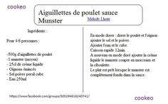 Aiguillettes de poulet sauce Munster