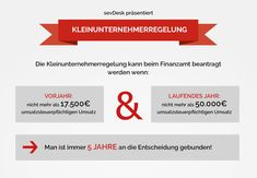 Kleinunternehmer Infografik