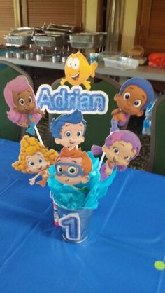 Bubble guppies on pinterest bubble guppies birthday bubble guppies party and bubble guppies - Bubble guppies center pieces ...