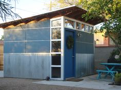 Studio Shed creates high-efficiency prefab modern sheds and backyard studios. Design and build your own modern studio with our Configurator tool. Shed Office, Backyard Office, Backyard Studio, Backyard Ideas, Outdoor Sheds, Outdoor Spaces, Cool Sheds, Studio Shed, Tiny Studio