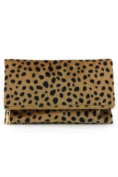 Leopard Foldover Clutch – Jess Lea Boutique #jessleaboutique