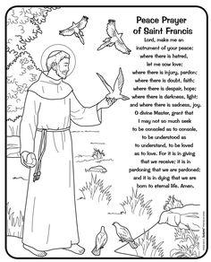 saint maxamillion kolbe coloring pages | OCTOBER CATHOLIC SAINT CALENDAR ACTIVITIES - SAINT FRANCIS ...