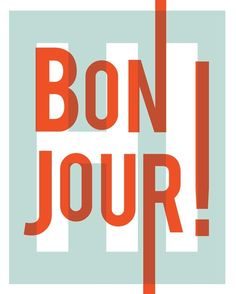 Bonjour! Print 20x25cm - A Day with Kate