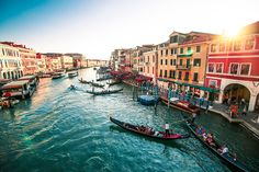 Public transport is provided by water buses and private water taxis, and many tourists explore the canal by gondola
