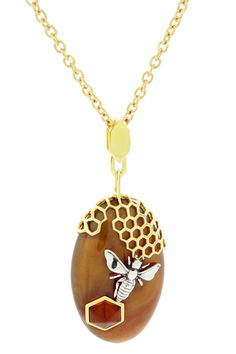 Honeycomb Pendant Necklace. i will get my babygirl something like this when she is a beehive.