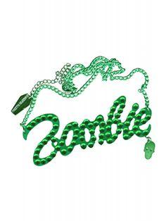 Kreepsville 666 Green Diamonte Zombie Necklace