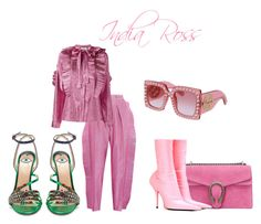 """""""Pretty In Pink"""" by itsindiaross on Polyvore featuring Gucci and Balenciaga"""