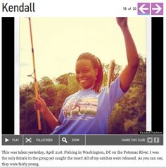 April 21: Kendall's #bestweekendever fishing on the Potomac river