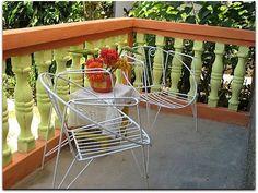 Terraza al patio interior. Vinales, Patio Interior, Bar Cart, Furniture, Home Decor, Terrace, Interiors, Decoration Home, Room Decor