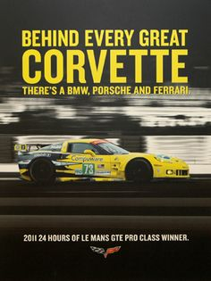 Every Corvette Fan Must Own This Poster... need this for my hubby