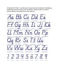 Printables D Nealian Handwriting Worksheets Free handwriting worksheets and on pinterest dnealian letters