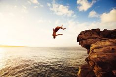 Cliff Jumping on the Garden Route | Adventure Sport - Garden Route Abseiling, Rocky River, Cliff Diving, Bungee Jumping, Adventure Activities, Outdoor Fun, Geology, Wilderness, Coastal